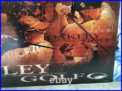 2002 RARE VINTAGE HUGE 27x40 OAKLEY GOLF POSTER display bomb elite six metal