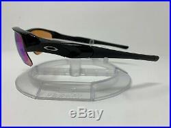 AUTHENTIC Oakley Flak Jacket XLJ Polished Black withPrizm Golf Lens 24-428