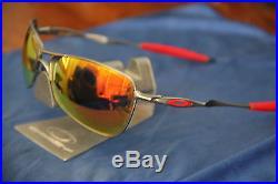 + AVIATOR CUSTOM Oakley CROSSHAIR + SILVER RUBY LEN$ + RED PADS