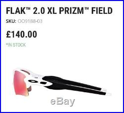 Bnwt Oakley Flak 2.0 XL Prizm Sunglasses (baseball Cricket Golf) Rrp £140