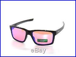 (l1)brand New Oakley Mainlink 9264-23 Polished Black Prizm Golf Sunglasses