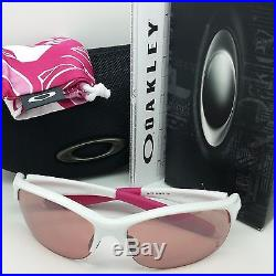 NEW Breast Cancer Coll Oakley COMMIT SQ sunglasses White G30 Black 24-176 Golf