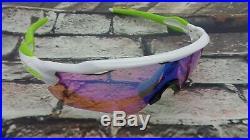 NEW CUSTOM Oakley Radar EV Sunglasses Polished White Frame / Prizm Golf Lens