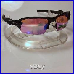 NEW OAKLEY FLAK 2.0 PRIZM GOLF (ASIA FIT) SUNGLASSES Polished Blk FREE SHIPPING