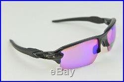 NEW OAKLEY FLAK 2.0 Polished Black Prizm Dark Golf OO9188-05 Sunglasses