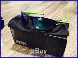 NEW OAKLEY FLAK 2.0 XL Sunglasses BLACK INK/JADE POLARIZED Lens GOLF Radar