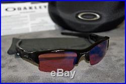 NEW OAKLEY FLAK JACKET XLJ GOLF SUNGLASSES JET BLACK, G30 LENS (03-921)