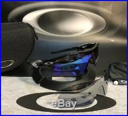 NEW OAKLEY RADARLOCK ARREY POl. BLACK PRIZM GOLF CLEAR VENTED No Box OO9181-41