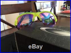 NEW OAKLEY Sunglasses FLAK 2.0 XL PRIZM Uranium Golf Edition! Radar Lock Zero