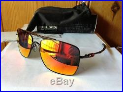 NEW Oakley Deviation Sunglasses, Polished Black / Ruby Iridium, OO4061-04