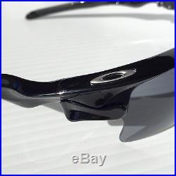 NEW Oakley FAST JACKET BLACK w Grey & VR28 Lens Multi-lens Sunglass 9156-30 GOLF