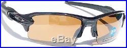 NEW Oakley FLAK 2.0 BLACK w POLARIZED TUNGSTEN PRIZM Golf Sunglass oo9295-20