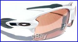 NEW Oakley FLAK 2.0 Matte WHITE w PRIZM Dark GOLF Lens Sunglass 9188-B1
