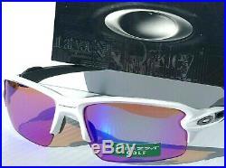 NEW Oakley FLAK 2.0 WHITE Polished w PRIZM GOLF Iridium Lens Sunglass 9295