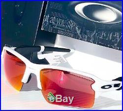 NEW Oakley FLAK 2.0 White PRIZM Field Baseball Golf XL Sunglass 9188-03