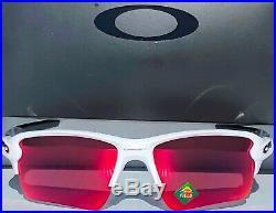 NEW Oakley FLAK 2.0 White PRIZM Field Baseball Golf XL Sunglass 9188