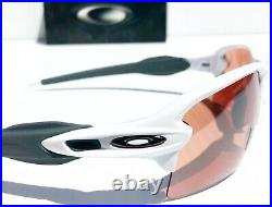 NEW Oakley FLAK 2.0 White polished frame w PRIZM DARK Golf XL Sunglass 9188-B1