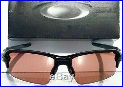 NEW Oakley FLAK JACKET 2.0 BLACK PRIZM Bronze Dark GOLF Sunglass 9271-37
