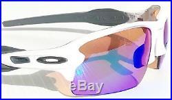 NEW Oakley FLAK JACKET 2.0 White PRIZM GOLF Lens Sunglass oo9295-06