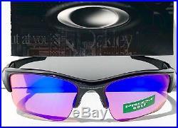 NEW Oakley FLAK JACKET Black w GOLF PRIZM XLJ Lens Sunglass 9009 24-428