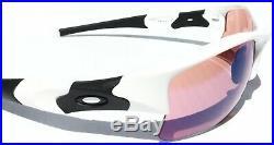 NEW Oakley FLAK JACKET WHITE polished frame w GOLF G30 Lens Sunglass 26-222