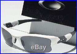 NEW Oakley FLAK JACKET WHITE w Black Iridium XL Lens Golf Sunglass 03-882 $200