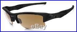 NEW Oakley FLAK JACKET XLJ BLACK POLARIZED BRONZE Golf Sunglasses 26-243 NIB