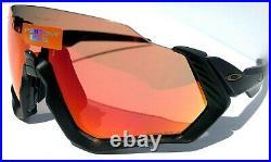 NEW Oakley FLIGHT JACKET Black w Prizm Trail Torch Sunglasses Bike Golf 9401-16
