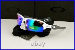 NEW Oakley Flak 2.0 AF Sunglasses OO9271-10 Polished White Prizm Golf Lens