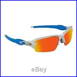 NEW Oakley Flak 2.0 (AF) Sunglasses Silver / Prizm Ruby, OO9271-3361