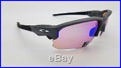 NEW Oakley Flak Draft sunglasses Steel Prizm Golf 9364-0467 G30 GENUINE 9364-04