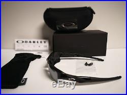 NEW Oakley Flak Jacket XLJ Polished Black / Black Iridium Polarized, 12-903