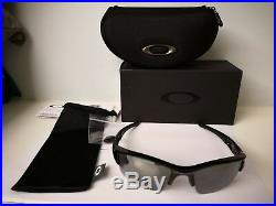 NEW Oakley Flak Jacket XLJ Sunglasses, Jet Black / black Iridium, 03-915