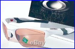 NEW Oakley HALF JACKET 2.0 White frame PRIZM Dark Golf lens Sunglass 9154-63