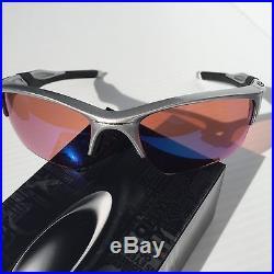 7a14539533db5d NEW Oakley Half JACKET 2.0 SILVER w G30 Iridium GOLF Lens Sunglass 9154-33   180