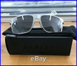 NEW Oakley Holbrook Sunglasses Metal Satin Chrome Black Iridium 004123-0355 Golf