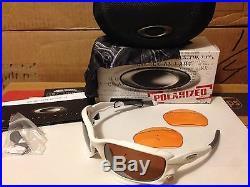 NEW Oakley JAWBONE Matte White / VR28 Black Iridium POLARIZED & Persimmon 04-204