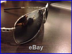 NEW Oakley Plaintiff Sunglasses in Polished Chrome / Chrome Iridium, OO4057-03