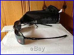 NEW Oakley Polarized C-Wire Polished Black / black Iridium Polarized OO4046-01