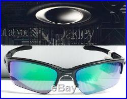 NEW Oakley QUARTER JACKET Black w JADE Iridium Lens GOLF PRIZM Sunglass