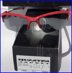 oakley youth golf sunglasses  new oakley quarter jacket red w black iridium lens youth sunglass golf baseball