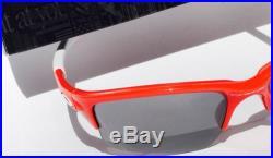 NEW Oakley QUARTER JACKET Red w Black Iridium Lens Youth Sunglass Golf Baseball