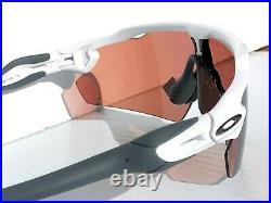NEW Oakley RADAR EV Pitch WHITE polished PRIZM Dark Golf Sunglass 9211-19
