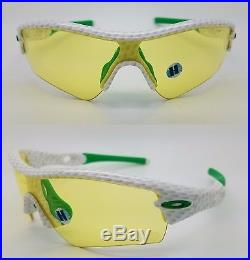 NEW Oakley Radar sunglasses Staple Golf Ball Yellow Path 24-219 Limited RARE NIB