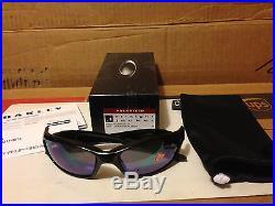 NEW Oakley Straight Jacket 2.0 Polished Black / Jade Iridium Polarized 26-262