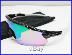 NEW Oakley Sunglasses RADAR EV Path Polished Black PRIZM GOLF withWhite Ear Socks
