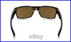NEW Oakley TWO FACE Black MATTE Brushed w BRONZE Lens Sunglass Golf 9189-03