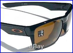NEW Oakley TWO FACE Black on Black w Dark Bronze Golf Sunglass 9189-03