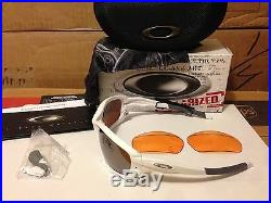 Neu Oakley Jawbone Mattweiß / VR28 Schwarz Iridium Polarized & Persimmon 04-204