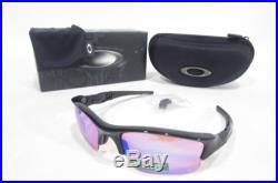 New OAKLEY FLAK JACKET XLJ MEN'S SUNGLASSES Polished Black/Prizm Golf
